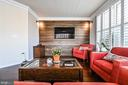 Main Level Living Room with Poplar wood  wall - 43213 DEPASCALE SQ, ASHBURN