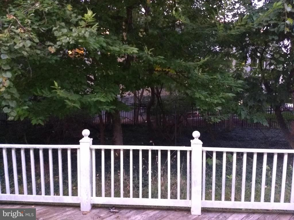 View out back door from Family Room - 3705 GLEN EAGLES DR, SILVER SPRING