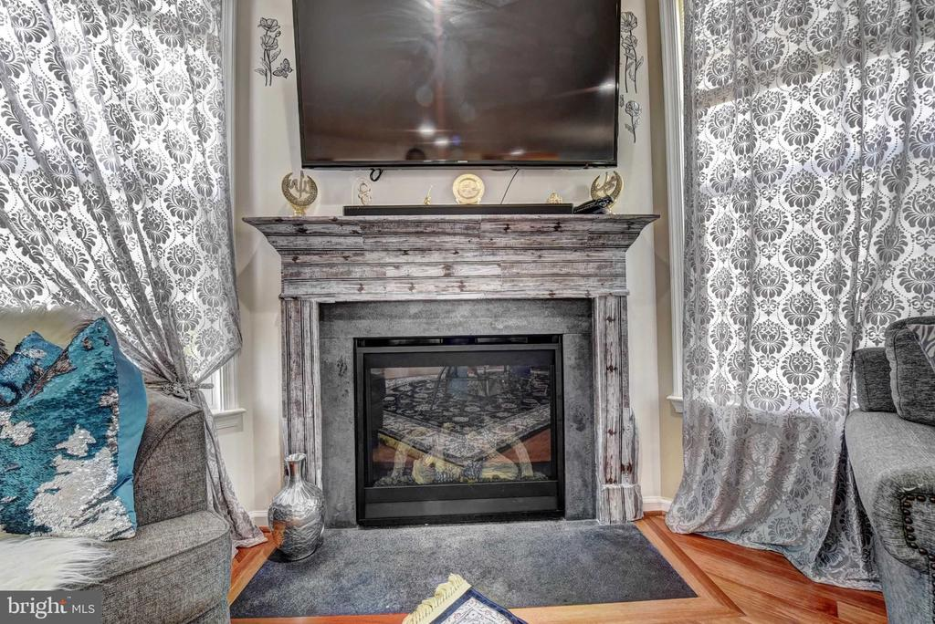 Stone Gas Fireplace - 42340 ABNEY WOOD DR, CHANTILLY