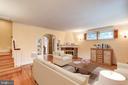 Spacious Living Room with fireplace - 2706 CORTLAND PL NW, WASHINGTON
