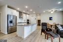 On trend wide planked hardwood floors - 11200 RESTON STATION BLVD #402, RESTON
