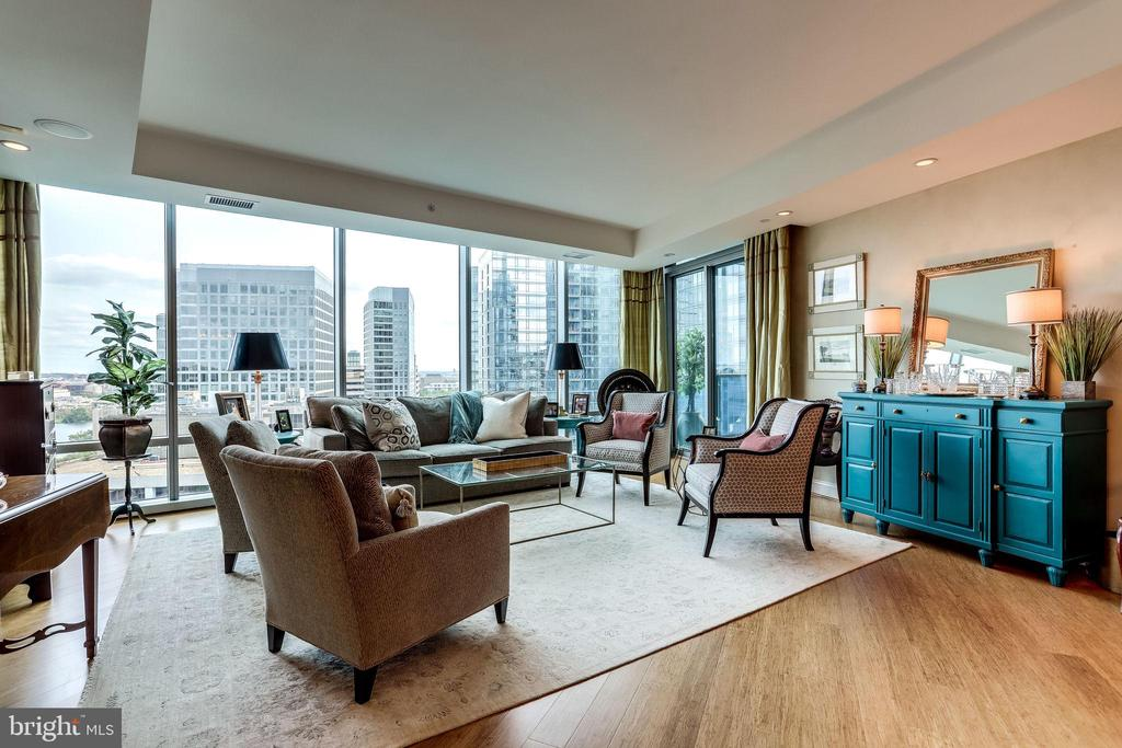 Living Area With Access To Balcony - 1881 N NASH ST #1411, ARLINGTON