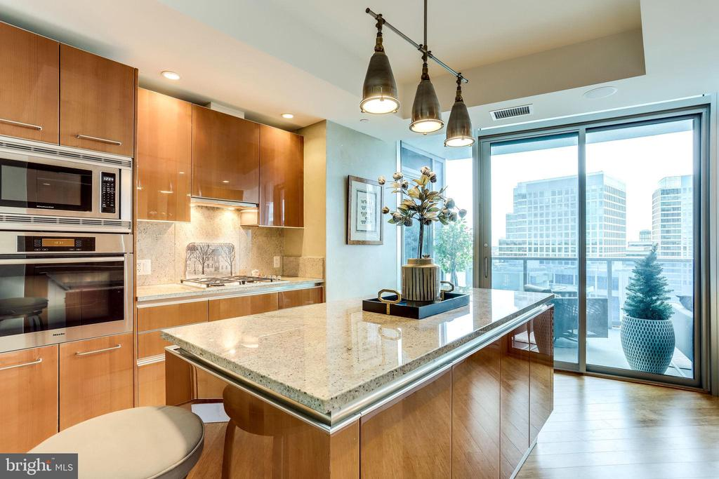 Kitchen With Access To Balcony - 1881 N NASH ST #1411, ARLINGTON