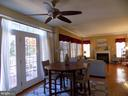 Breakfast area and French doors to deck - 24784 HIGH PLATEAU CT, ALDIE