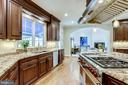 Kitchen opens to modern family room - 2124 POLO POINTE DR, VIENNA