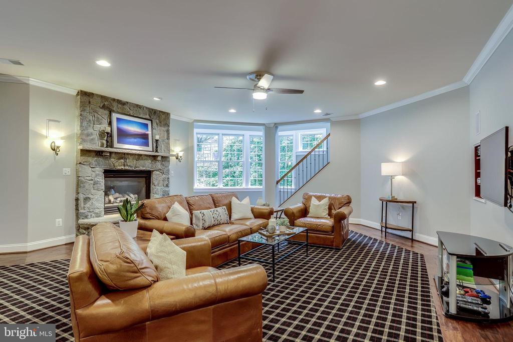 Rec room with gas fireplace - 2124 POLO POINTE DR, VIENNA