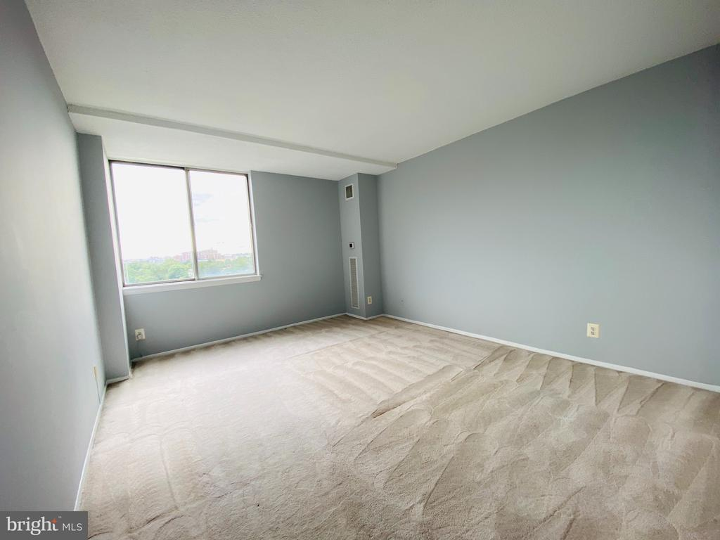 Bedroom View 1 (professionally cleaned carpet) - 501 SLATERS LN #906, ALEXANDRIA