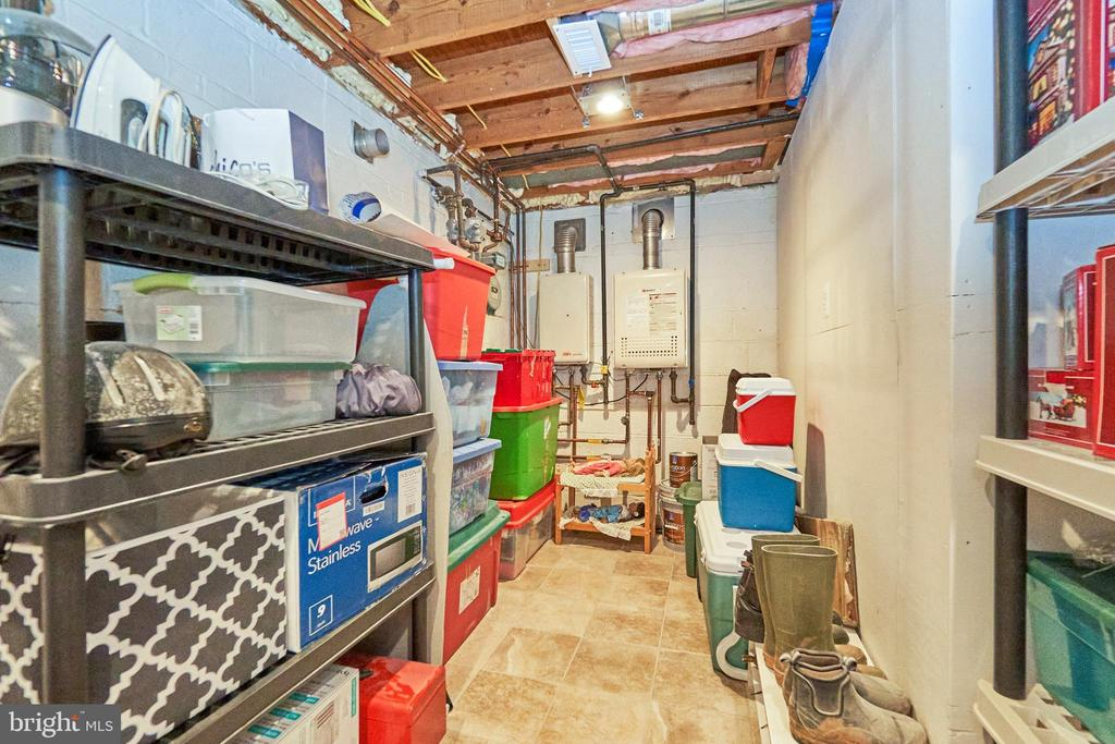 Storage Area and Tankless Water Heater - 105 PATRICK ST SW, VIENNA
