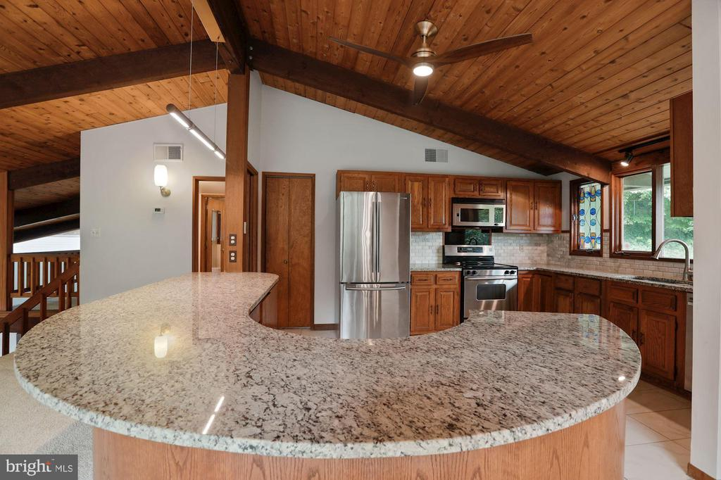 Kitchen - Wrap-Around Island Adds Character! - 6411 RECREATION LN, FALLS CHURCH
