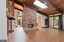 Lvg Rm w/ Stunning Floor-to-Ceiling Fireplace! - 6411 RECREATION LN, FALLS CHURCH