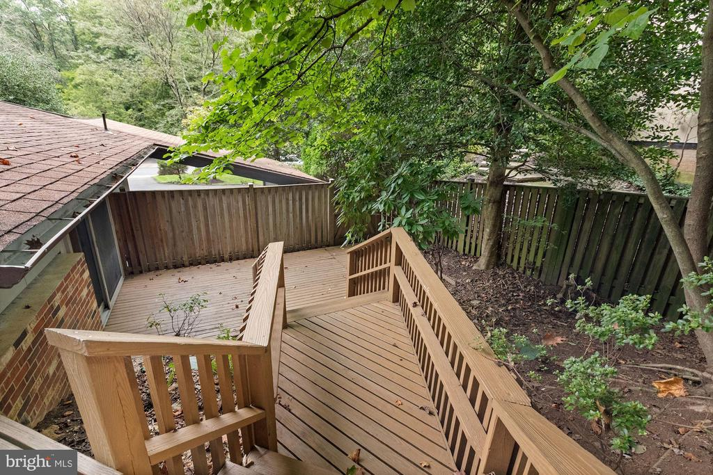 One Deck Leads to ANOTHER Deck! - 6411 RECREATION LN, FALLS CHURCH