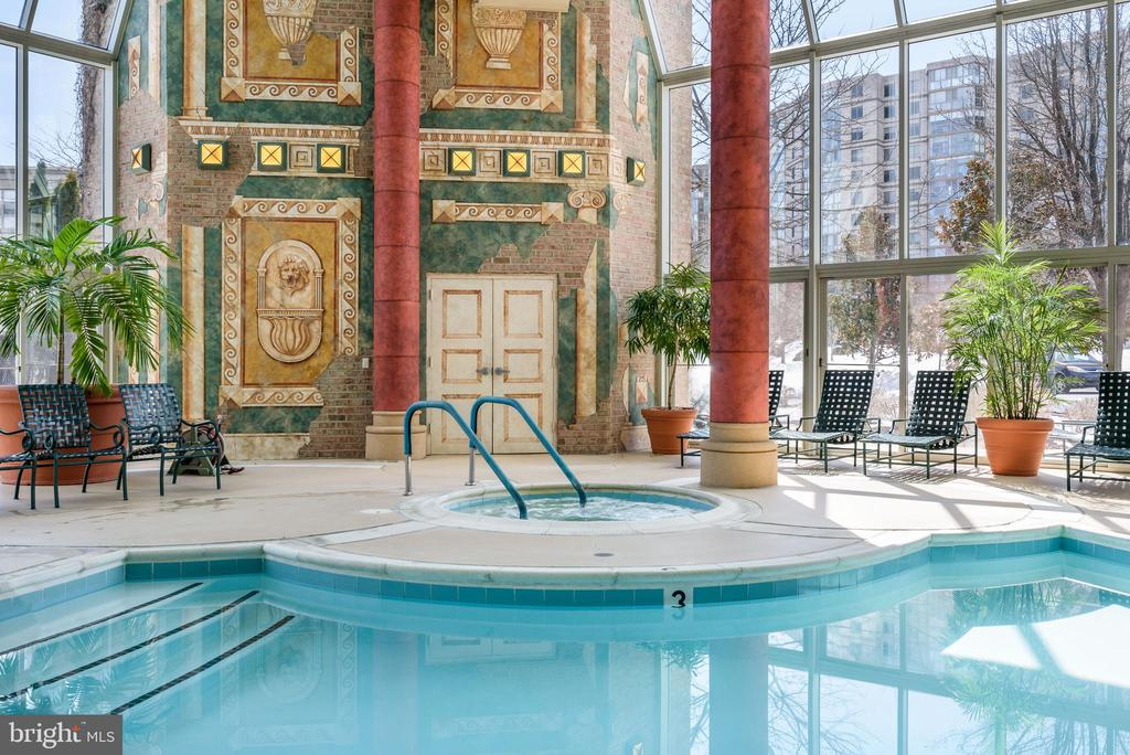 Indoor Pool at Clubhouse - 19360 MAGNOLIA GROVE SQ #212, LEESBURG