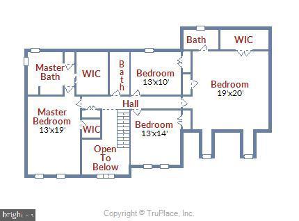 Upper level floor plan - 15901 EDGEWOOD DR, DUMFRIES