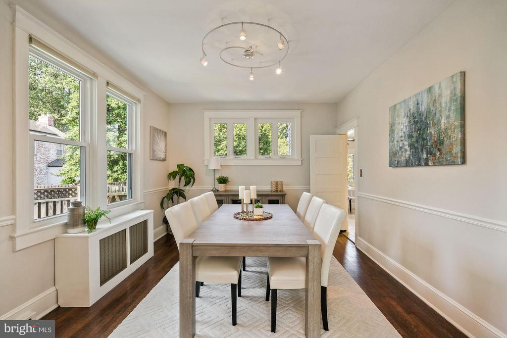 Spacious dining room - 4111 LEGATION ST NW, WASHINGTON