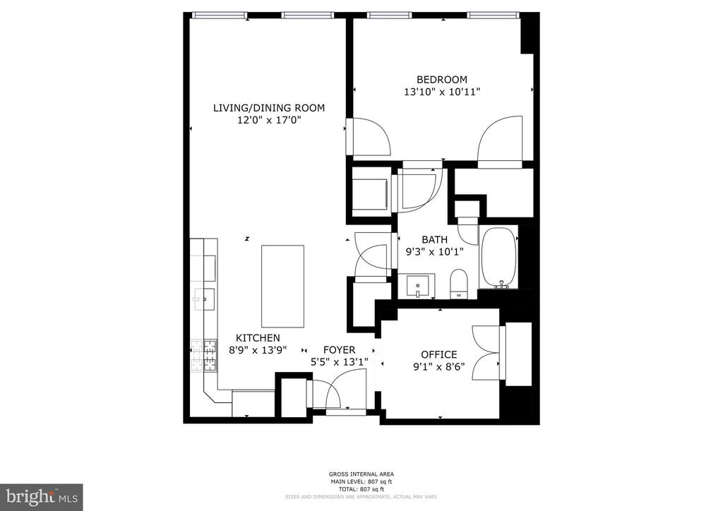 Floor Plan - 1111 19TH ST N #1706, ARLINGTON