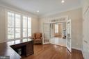 Main Level Office with French Doors and Closet - 44220 RIVERPOINT DR, LEESBURG