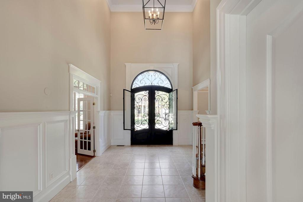 Beautiful Front Entry with Clark Hall Front Door - 44220 RIVERPOINT DR, LEESBURG
