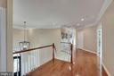 Upper Level Landing with Wood Floors - 44220 RIVERPOINT DR, LEESBURG