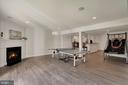 Lower Level Rec Room with Fireplace - 44220 RIVERPOINT DR, LEESBURG
