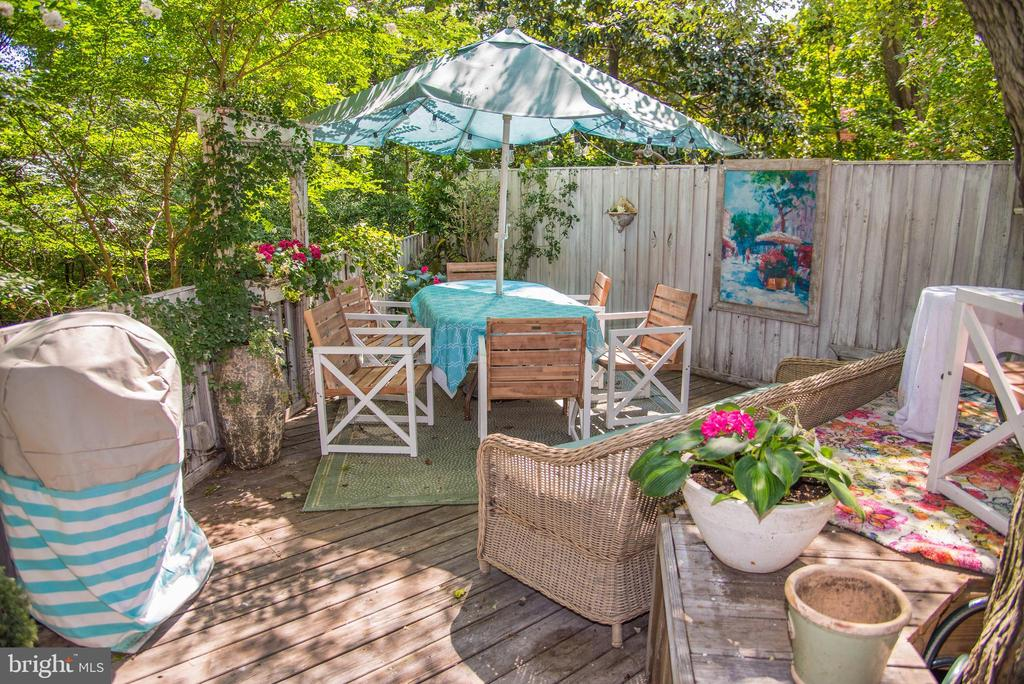 Deck perfect for entertaining - 210 JEFFERSON ST, ALEXANDRIA