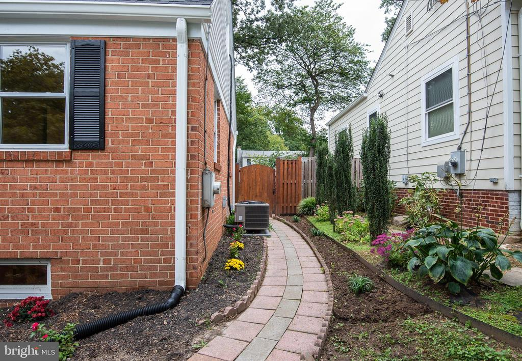 Side Walkway to Fenced Backyard and New Patio - 9113 WALDEN RD, SILVER SPRING
