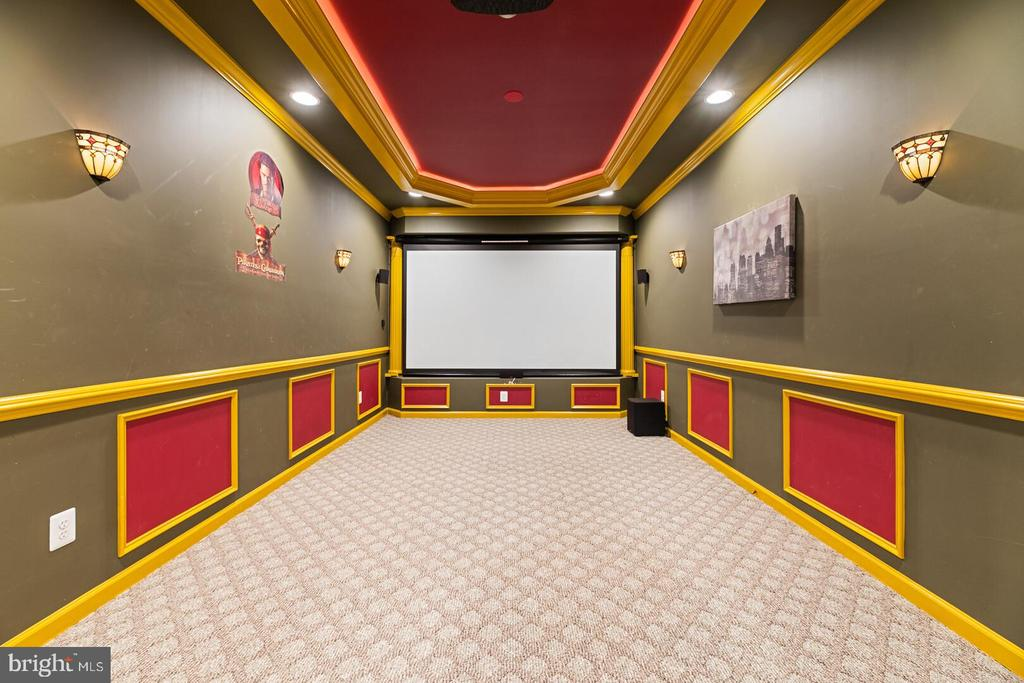 Home Theater - 22767 SWEET ANDREA DR, BRAMBLETON