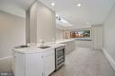 Wet bar and beverage fridge for easy entertaining - 1310 RHODE ISLAND AVE NW, WASHINGTON