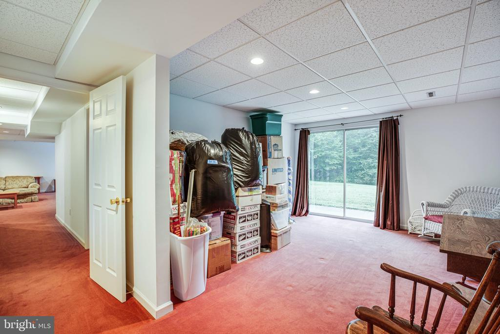 Lower Level Bedroom #5 w/ walk-out patio access - 6300 MARYE RD, WOODFORD
