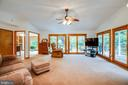 This large family room offers commanding views - 6300 MARYE RD, WOODFORD