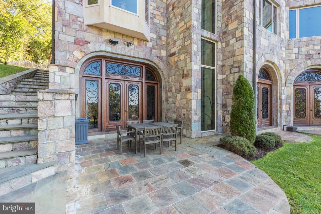 Rear Patios and French Doors Open from Pool  Level - 612 RIVERCREST DR, MCLEAN
