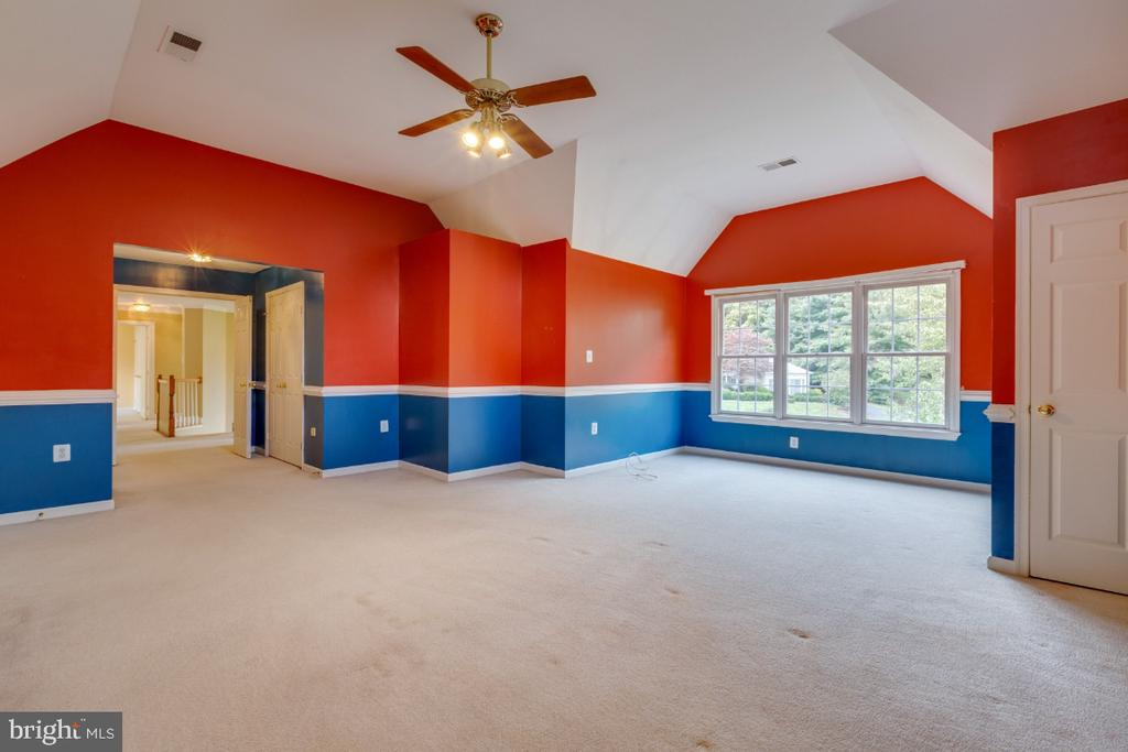 Primary suite with vaulted ceilings - 501 SABER CT SE, LEESBURG