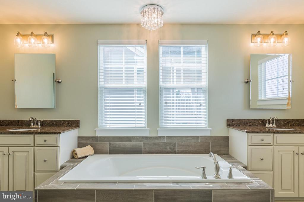Soaking tub, dual vanities, shower & water closet - 16928 TAKEAWAY LN, DUMFRIES
