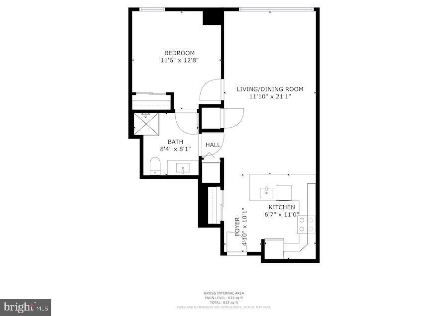 Floor Plan! - 888 N QUINCY ST #207, ARLINGTON