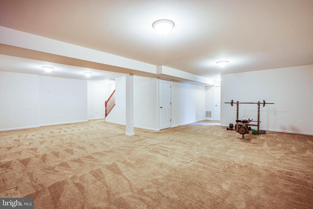 Large finished basement - 1916 MEADOW LARK DR, CULPEPER