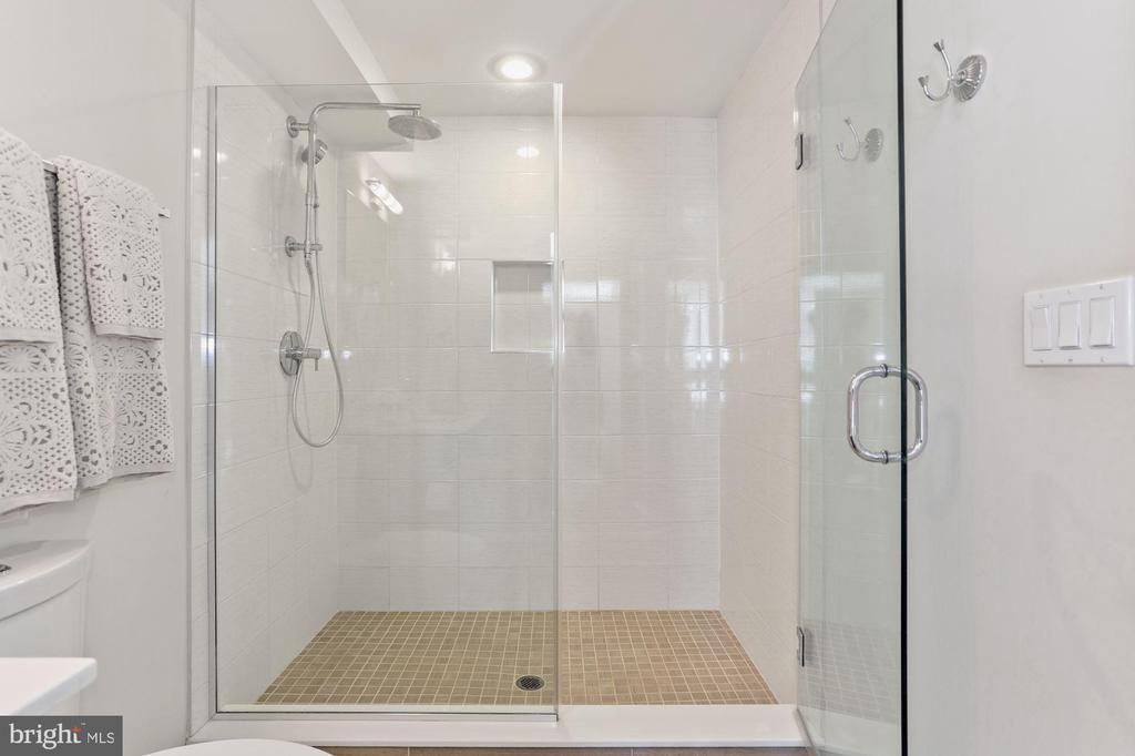 Bathrm - HUGE Walk-In Shower w/ Large Glass Doors! - 2337 CHAMPLAIN ST NW #104, WASHINGTON