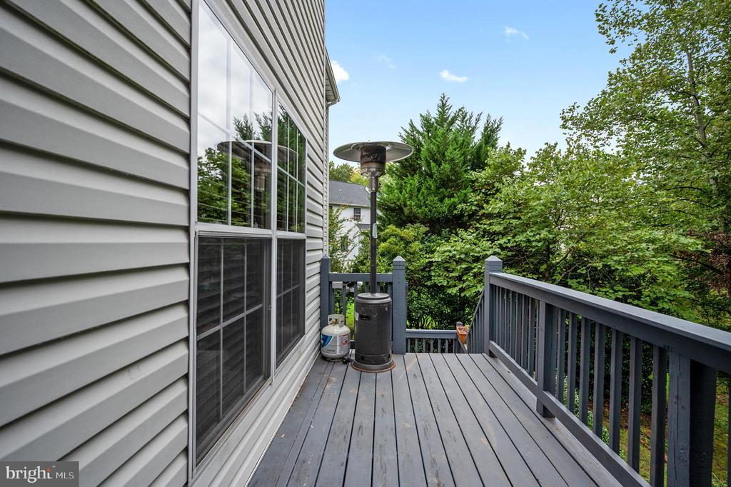Deck view to wooded back yard - 5 JAMESTOWN CT, STAFFORD