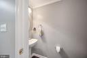 Mid level hall half bathroom - 5 JAMESTOWN CT, STAFFORD