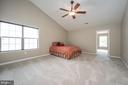 Exceptionally large primary  with vaulted ceiling - 5 JAMESTOWN CT, STAFFORD