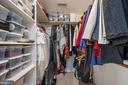 Primary bedroom walk in closet 1 - 5 JAMESTOWN CT, STAFFORD