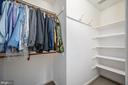 Primary bedroom walk in closet 2 - 5 JAMESTOWN CT, STAFFORD