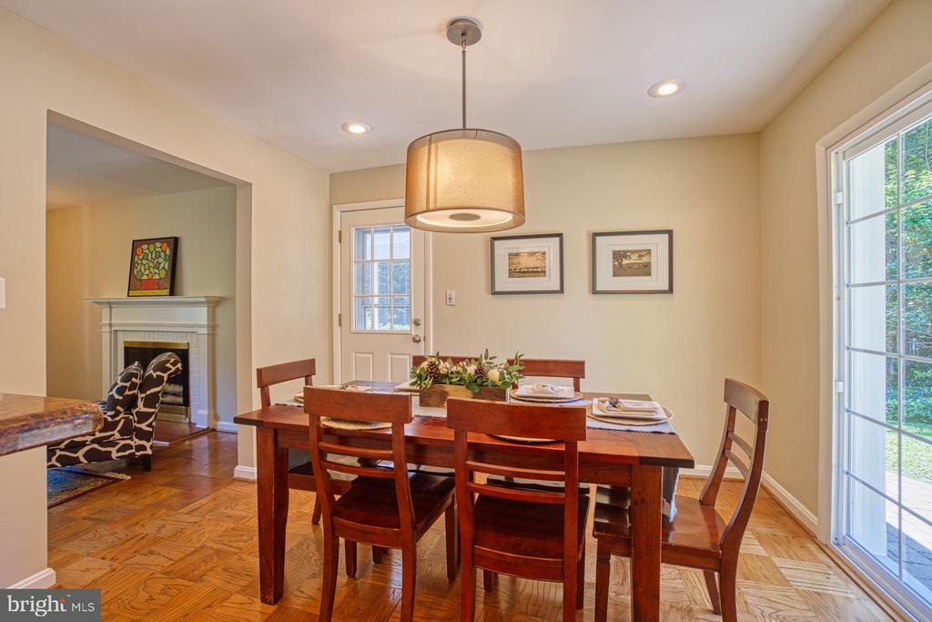 Open Dining room with access to Screen Porch - 3130 VALLEY LN, FALLS CHURCH