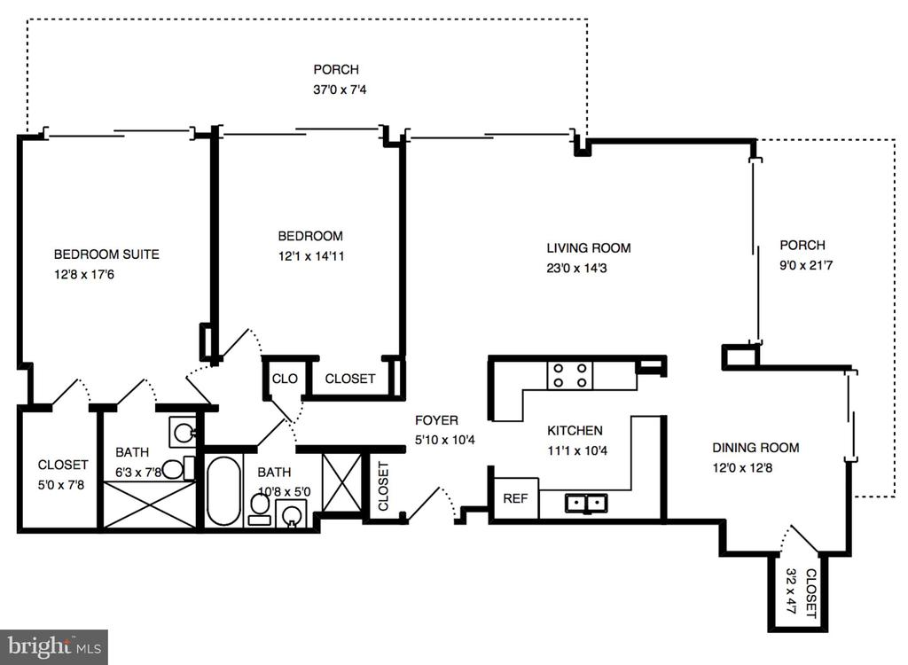 Floor plan - 4141 N HENDERSON RD #123, ARLINGTON