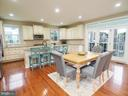 Open Concept Kitchen with large center island - 2480 POTOMAC RIVER BLVD, DUMFRIES