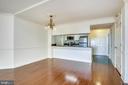 View into the dining room - 1276 N WAYNE ST #805, ARLINGTON