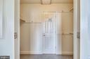 Walk in closet with door to the bathroom - 1276 N WAYNE ST #805, ARLINGTON