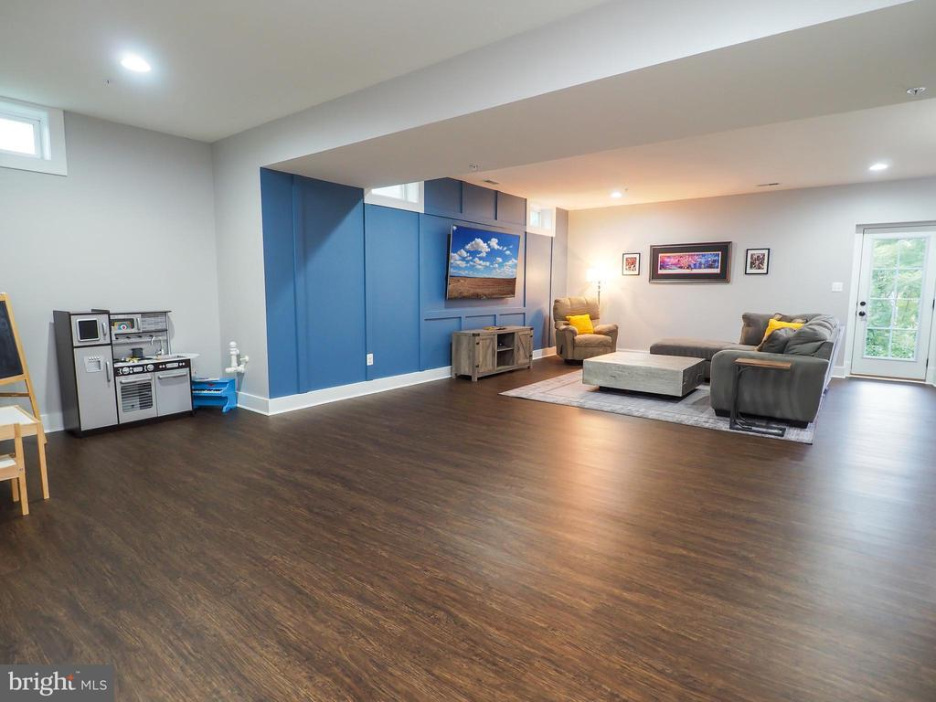 fully finished basement - blue accent wall - 2480 POTOMAC RIVER BLVD, DUMFRIES
