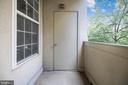 Private Balcony - 1320 N WAYNE ST #208, ARLINGTON