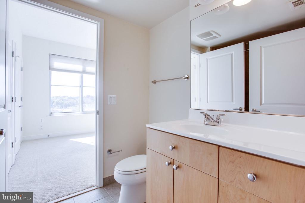 Bath w maple cabinetry, ungraded counters - 820 N POLLARD ST #504, ARLINGTON