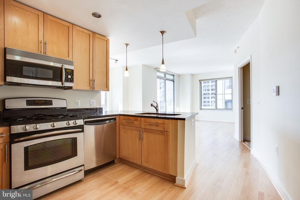 Kitchen with upgraded stainless appliances - 820 N POLLARD ST #504, ARLINGTON