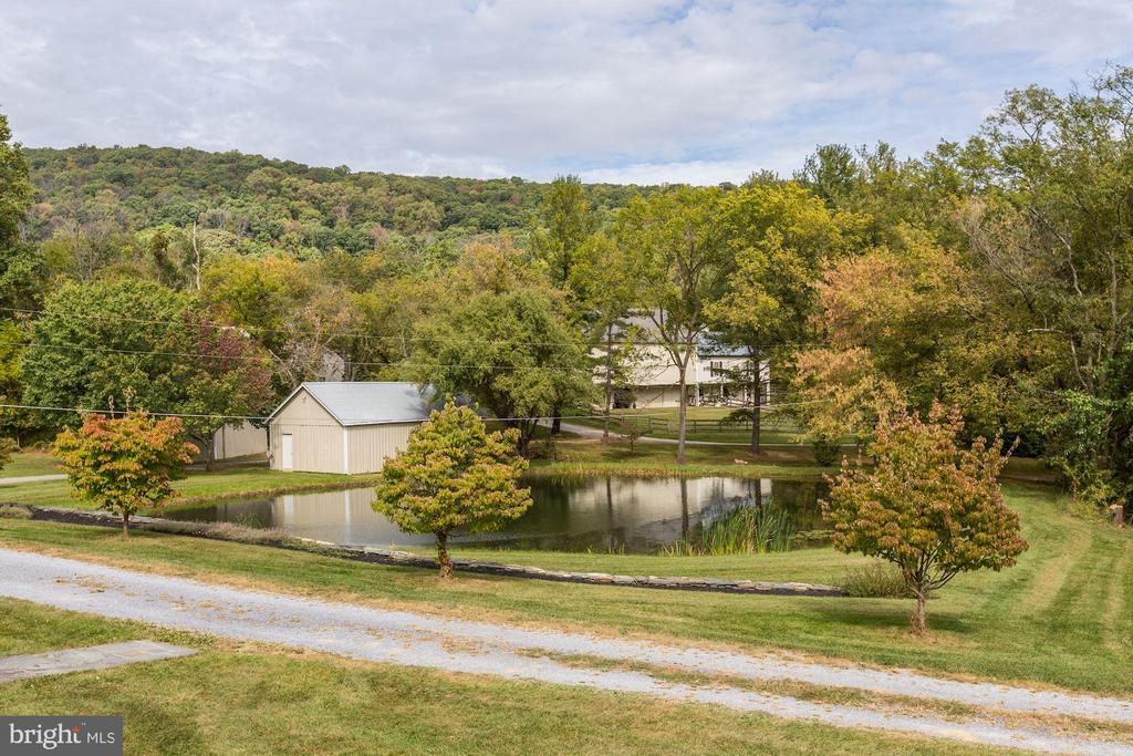 View from front entrance with circular driveway - 8730 FOX GAP RD, MIDDLETOWN